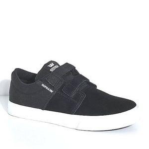 168130a11d Supra Shoes - Supra Stacks II Black/White, Hook & Loop Shoes
